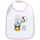 &quot;I love daddy&quot; binary Bib