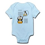"""I love daddy"" binary  Baby Onesie"