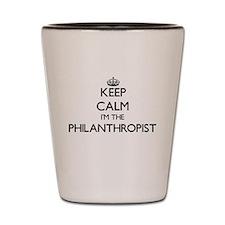 Keep calm I'm the Philanthropist Shot Glass