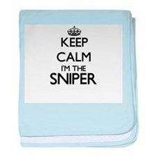 Keep calm I'm the Sniper baby blanket