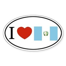 I love Guatemala Oval Decal