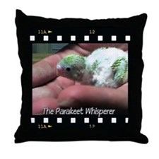 """Parakeet Whisperer"" Throw Pillow"