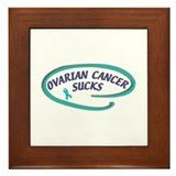 OVARIAN CANCER SUCKS Framed Tile