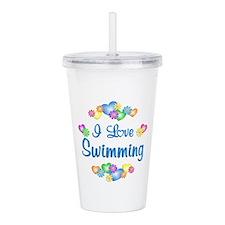 I Love Swimming Acrylic Double-wall Tumbler