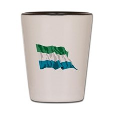 Sierra Leone Flag Shot Glass