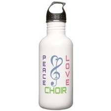Peace Love Choir Water Bottle