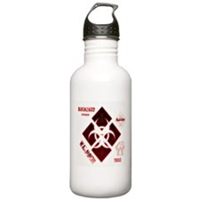 Biohazard red Water Bottle