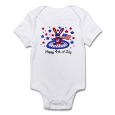 Happy 4th of July Cute Baby bodysuits