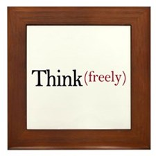 Think freely Framed Tile