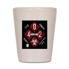 4 Biohazard 2 Shot Glass