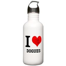 I Love Dogues Water Bottle