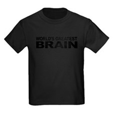 World's Greatest Brain Kids Dark T-Shirt