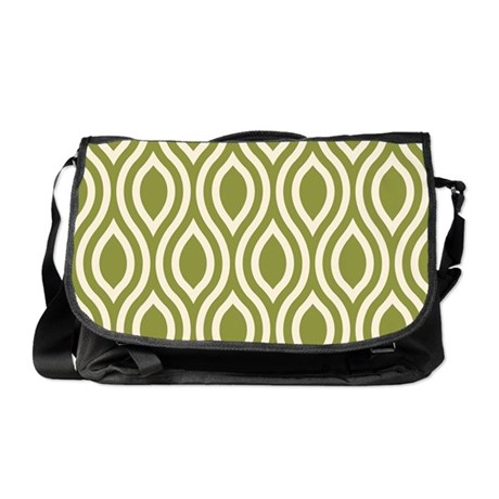 Ogee Olive Green Retro Messenger Bag