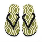 Ogee Olive Green Retro Flip Flops