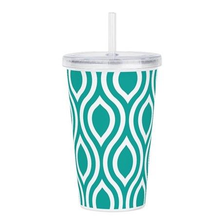 Ogee Teal Retro Acrylic Double-wall Tumbler