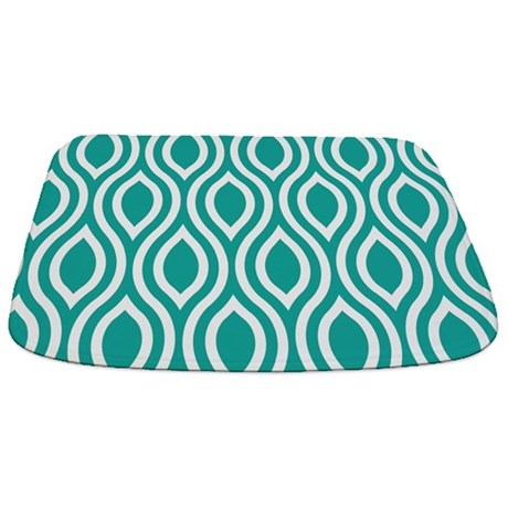 Ogee Teal Retro Bathmat