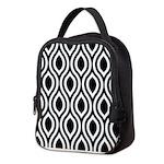 Ogee Retro Black and white Neoprene Lunch Bag