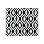 Ogee Retro Black and white Throw Blanket