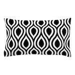 Ogee Retro Black and white Pillow Case