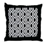 Ogee Retro Black and white Throw Pillow