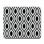 Ogee Retro Black and white Mousepad