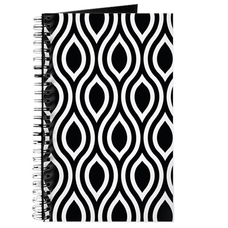 Ogee Retro Black and white Journal
