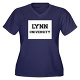 LYNN UNIVERSITY Women's Plus Size V-Neck Dark T-Sh