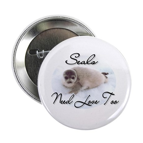 Seals Need Love 2.25&quot; Button (100 pack)