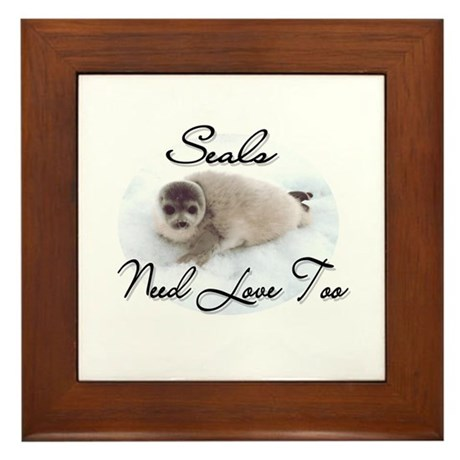 Seals Need Love Framed Tile
