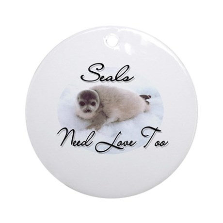 Seals Need Love Ornament (Round)