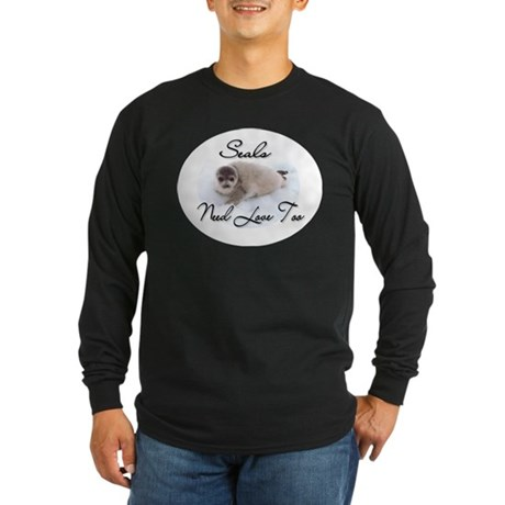 Seals Need Love Long Sleeve Dark T-Shirt