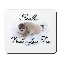 Seals Need Love Mousepad