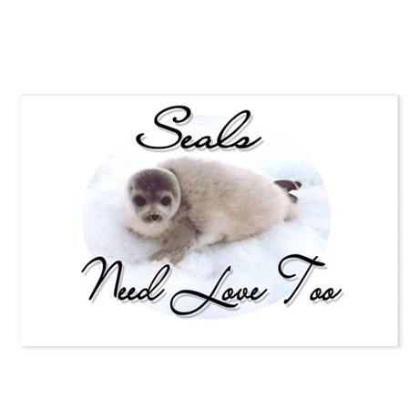 Seals Need Love Postcards (Package of 8)