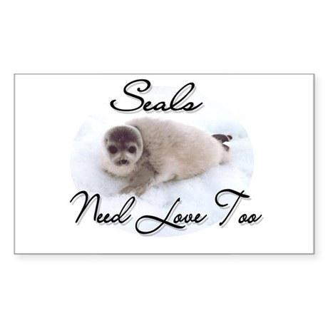Seals Need Love Rectangle Sticker