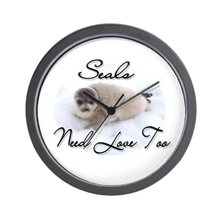 Seals Need Love Wall Clock