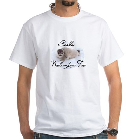 Seals Need Love White T-Shirt