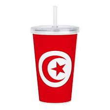 Tunisia Flag Acrylic Double-wall Tumbler