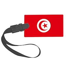 Tunisia Flag Luggage Tag