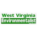 West Virginia Environmentalist Bumpersticker