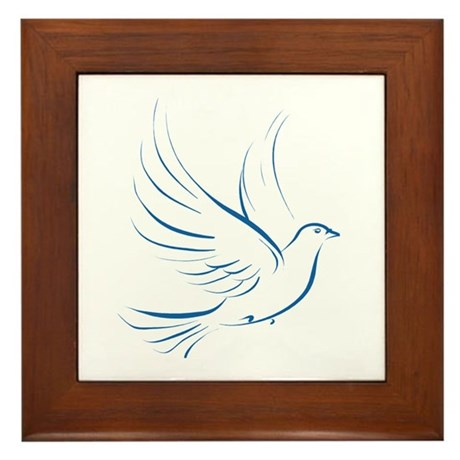 Dove of Peace Framed Tile