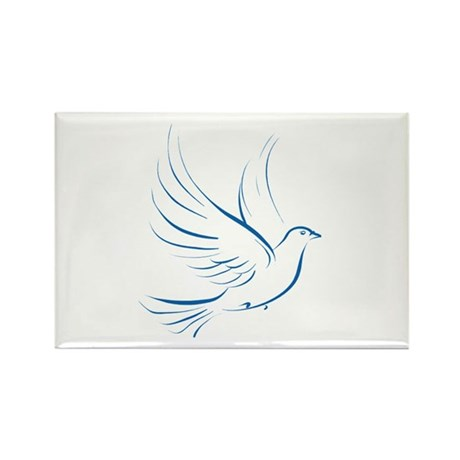 Dove of Peace Rectangle Magnet (100 pack)