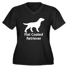 Flat Coated Retriever Silhouette Plus Size T-Shirt