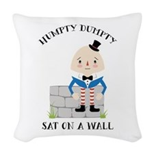 Sat On A Wall Woven Throw Pillow