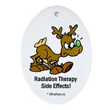 Radiation Therapy Side Effects Oval Ornament