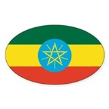 Ethiopian Flag Oval Decal