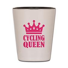 Cycling queen champion Shot Glass