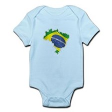 Brazilian Map And Flag Body Suit