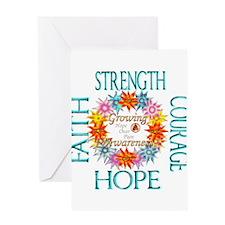 Faith Strength Courage CRPS RSD Awa Greeting Cards