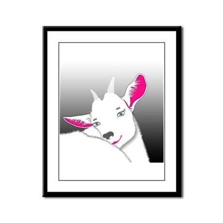 Cute Goat Framed Panel Print