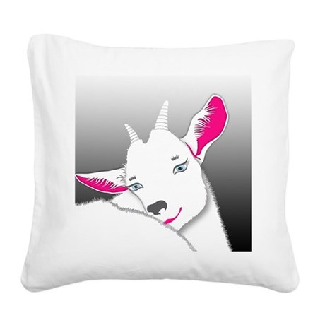 Cute Goat Square Canvas Pillow